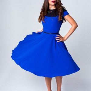 Royal Blue Circular Shift Dress